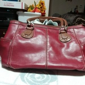 Women's burgundy purse